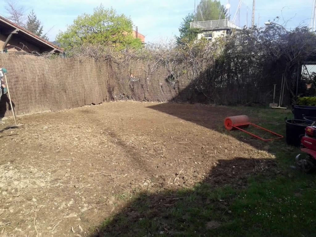 Preparacion del terreno para cesped