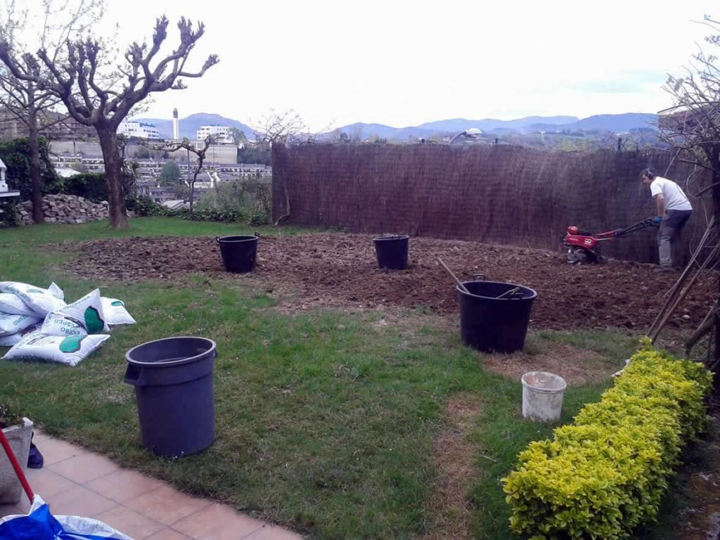 Resiembra y reparación de jardines-donostia