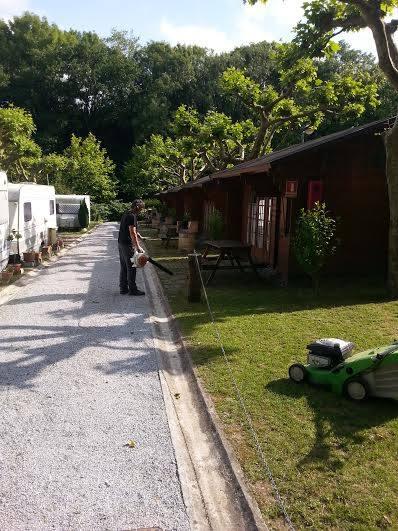 mantenimiento camping Jaizkibel Hondarribi