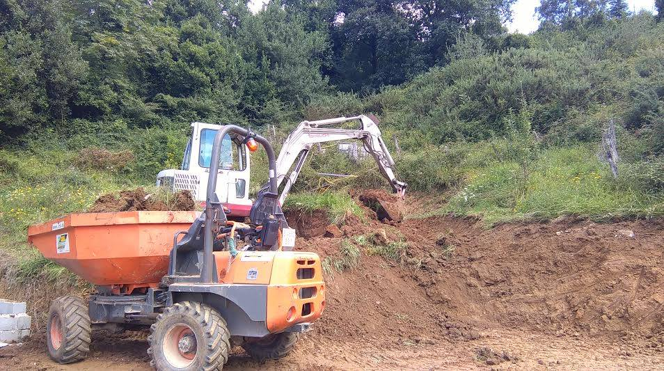 trabajos excavadora